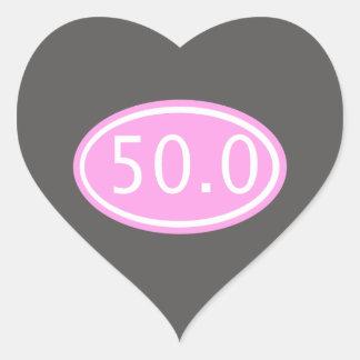 50.0 HEART STICKER