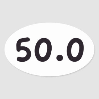 50.0 OVAL STICKER