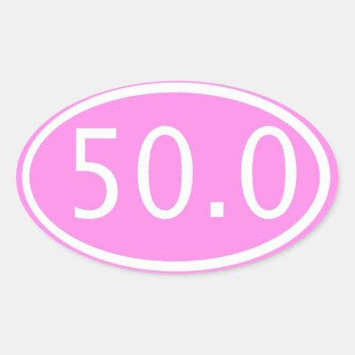 50,0 PEGATINA OVALADA