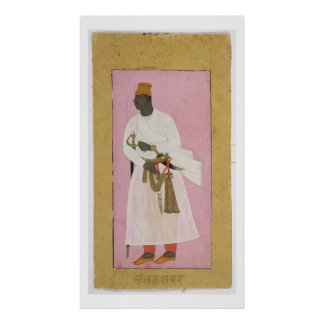 50 14 8 Portrait of Malik Amber inscribed in Deva Poster