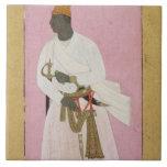 50.14/8 Retrato del ámbar de Malik, inscrito en De Azulejo Cuadrado Grande