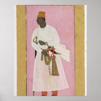 50.14/8 Retrato del ámbar de Malik, inscrito en De Poster