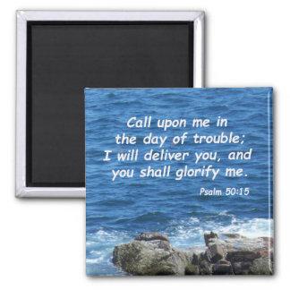50:15 del salmo imán cuadrado