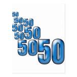 50 50 50 POST CARD