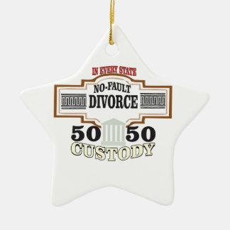 50 50 custody in marriage ceramic ornament