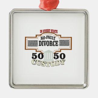 50 50 custody in marriage metal ornament