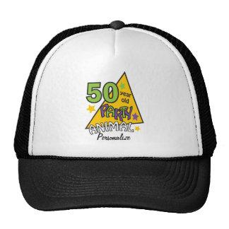50 50.o nombre año del cumpleaños DIY del Gorro