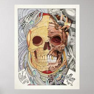 50/50 TATTOO ART repro 3 Poster