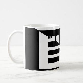 50/50 wall, bars Modern black and white art deco Coffee Mug