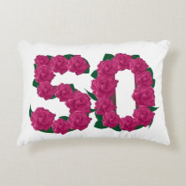 50 50th wedding anniversary Accent Pillow