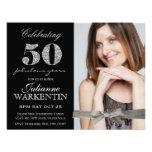 50.a celebración del cumpleaños de la foto elegant comunicado personal