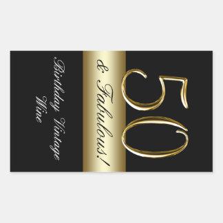 50.a etiqueta del vino del cumpleaños del oro metá