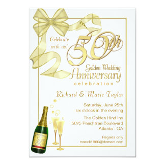 50.a fiesta de aniversario - invitaciones del invitación 12,7 x 17,8 cm