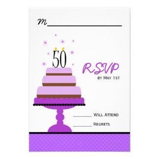 50 a fiesta de cumpleaños de la torta con gradas p comunicado personal