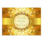 50.a fiesta de cumpleaños de oro de Bokeh Invitaciones Personalizada