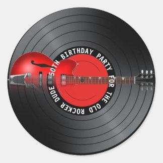50.a fiesta de cumpleaños del viejo del eje de pegatina redonda