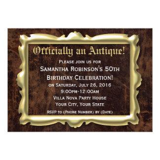 50 a fiesta de cumpleaños divertida oficialmente a invitación