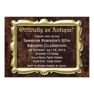 50.a fiesta de cumpleaños divertida oficialmente invitación