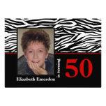 50.a foto del cumpleaños del estampado de zebra ro