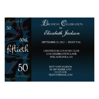 50.a invitación de la fiesta de cumpleaños del jal