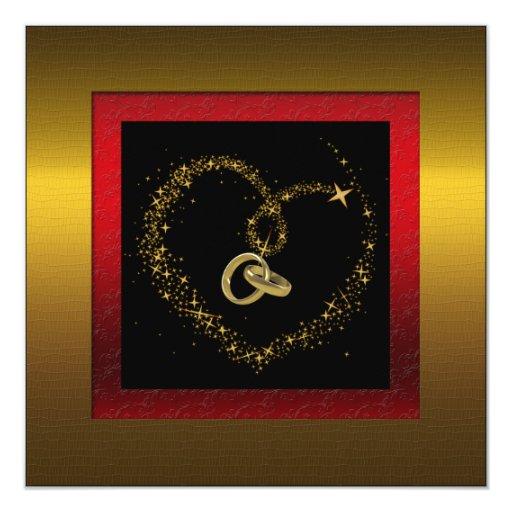 50.a invitación de oro de la fiesta de aniversario invitación 13,3 cm x 13,3cm