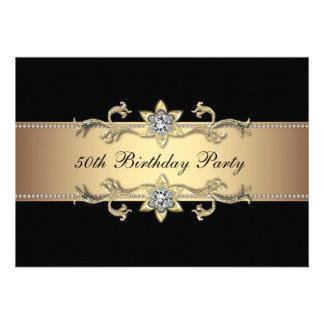 50 a invitación del cumpleaños de la mujer negra d
