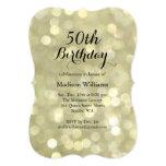 50.a invitación del cumpleaños de las luces invitación 12,7 x 17,8 cm