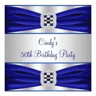 50.a invitación del cumpleaños del diamante azul