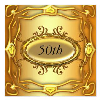50.a invitación del cumpleaños del oro