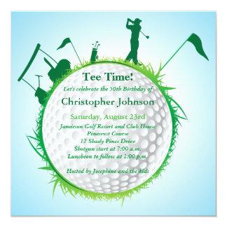 50.a invitación Golfing para hombre de la fiesta