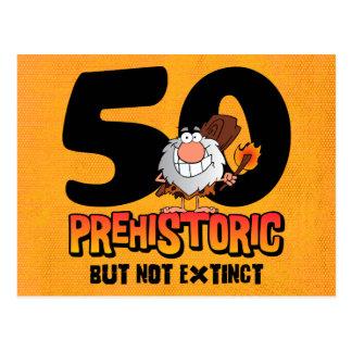50.a invitación prehistórica de la postal del cump