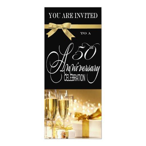 50.a invitación sofisticada de la fiesta de