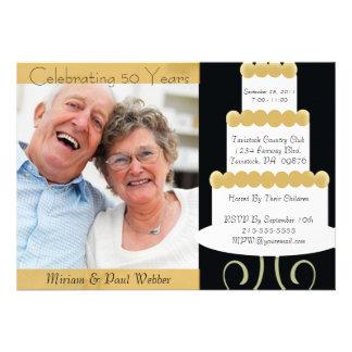 50 a invitación única de la fiesta de aniversario