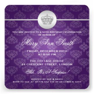 50 a púrpura real elegante de la corona de la fies comunicado personal