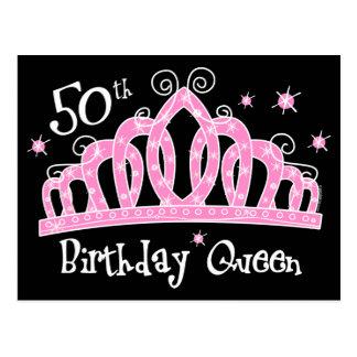 50 a reina DK del cumpleaños de la tiara Postales