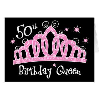 50.a reina DK del cumpleaños de la tiara Tarjeta De Felicitación