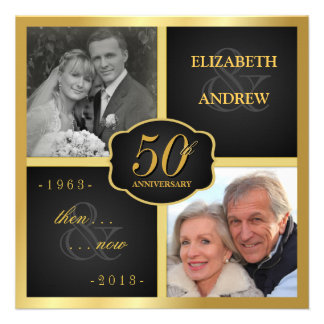 50 a renovación elegante del voto de la fiesta de invitación personalizada