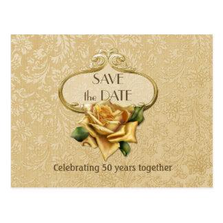 50.a reserva color de rosa de oro del aniversario postal