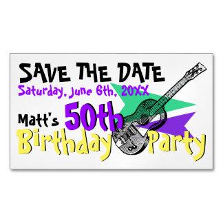 50.a reserva de la fiesta de cumpleaños de la tarjetas de visita magnéticas (paquete de 25)
