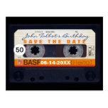 50.a reserva del cumpleaños de la cinta magnética postales