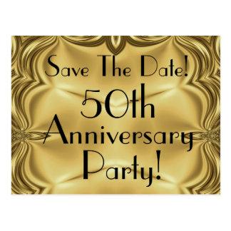 50.a reserva elegante del aniversario las postales