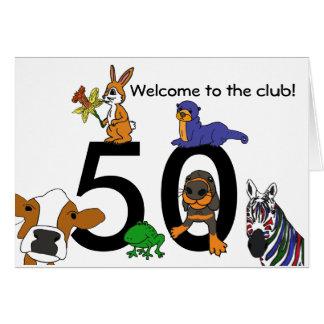 50.a tarjeta de cumpleaños A.C. linda