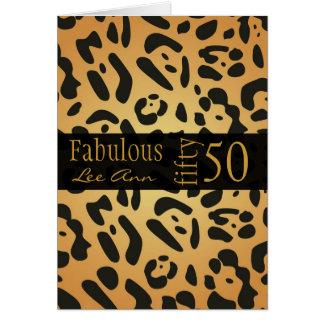 50 a tarjeta de cumpleaños personalizada para el n
