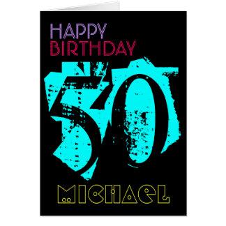 50.a tarjeta de felicitación personalizada del POP