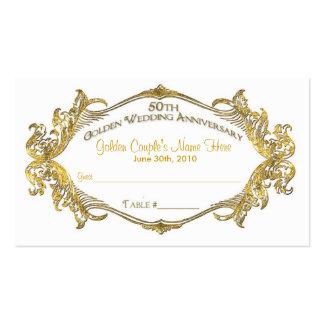 50.a tarjeta de la tabla de la huésped del anivers plantillas de tarjetas de visita