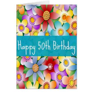 50.a tarjeta del cumpleaños de la diva para los na