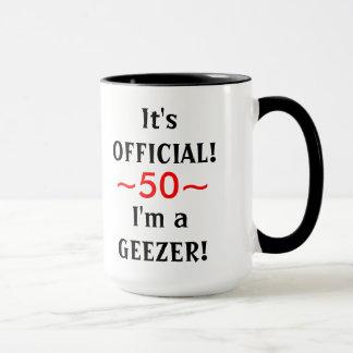 50.a taza del cumpleaños del Geezer divertido