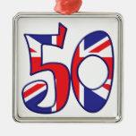 50 Age UK Metal Ornament