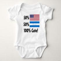 50% American 50% Honduran 100% Cute Baby Bodysuit