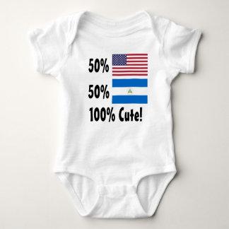 50% American 50% Nicaraguan 100% Cute Baby Bodysuit